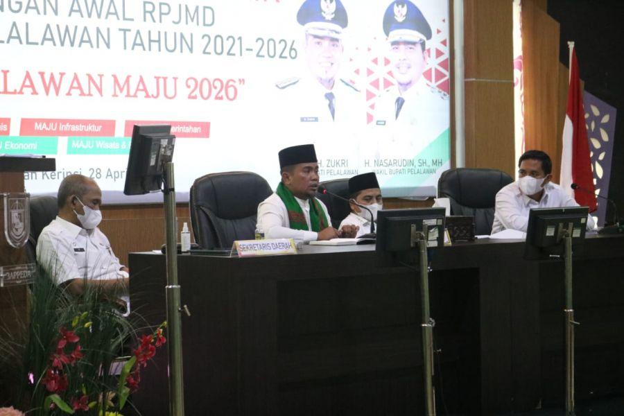 Bupati H.Zukri Buka Forum Konsultasi Publik Rancangan Awal RPJMD Tahun 2021-2026